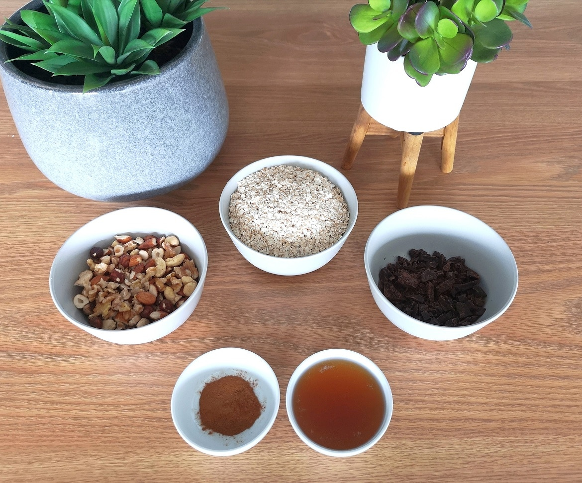 all ingredients of my Granola's recipe