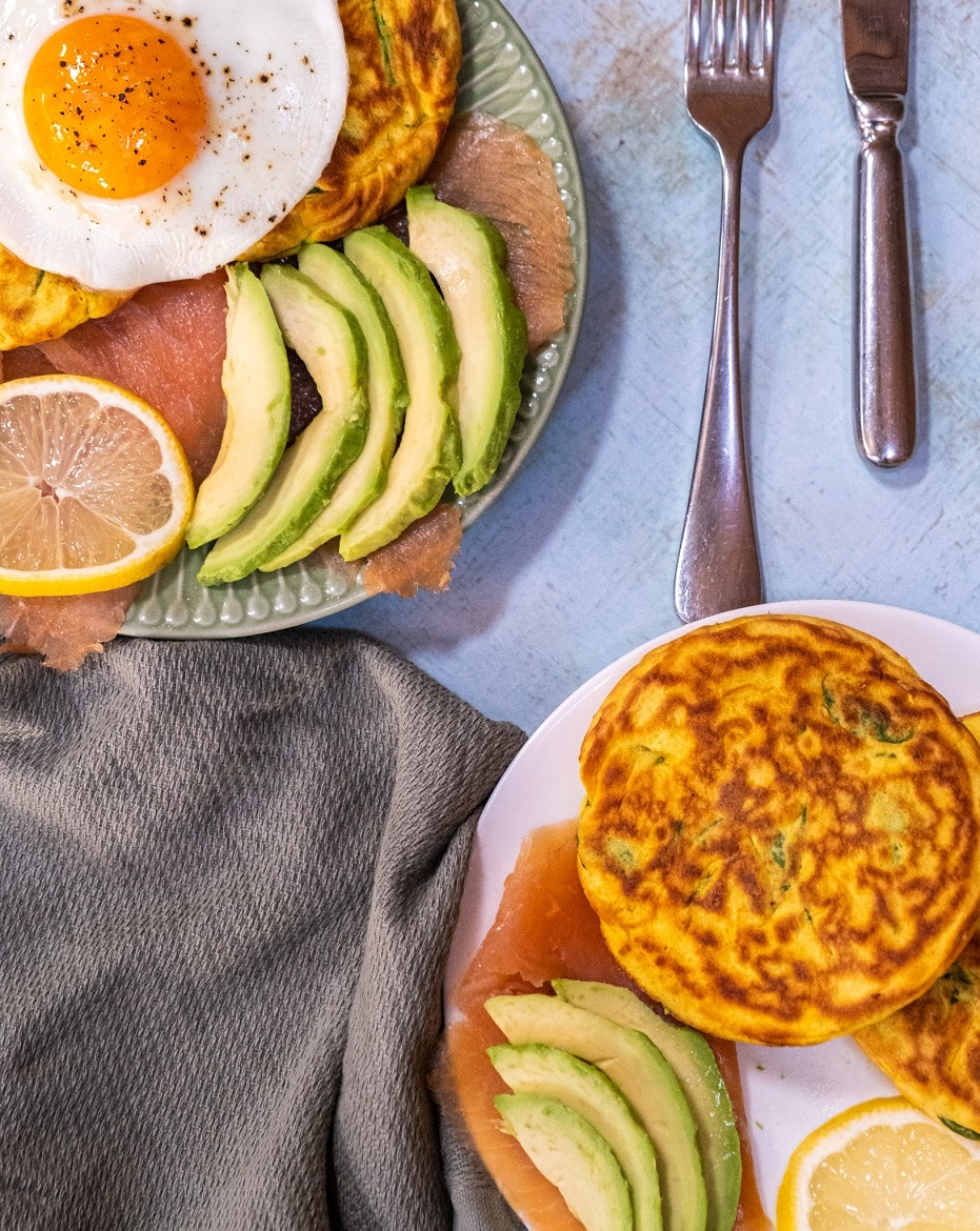 Protein Brunch salted pancakes avocado