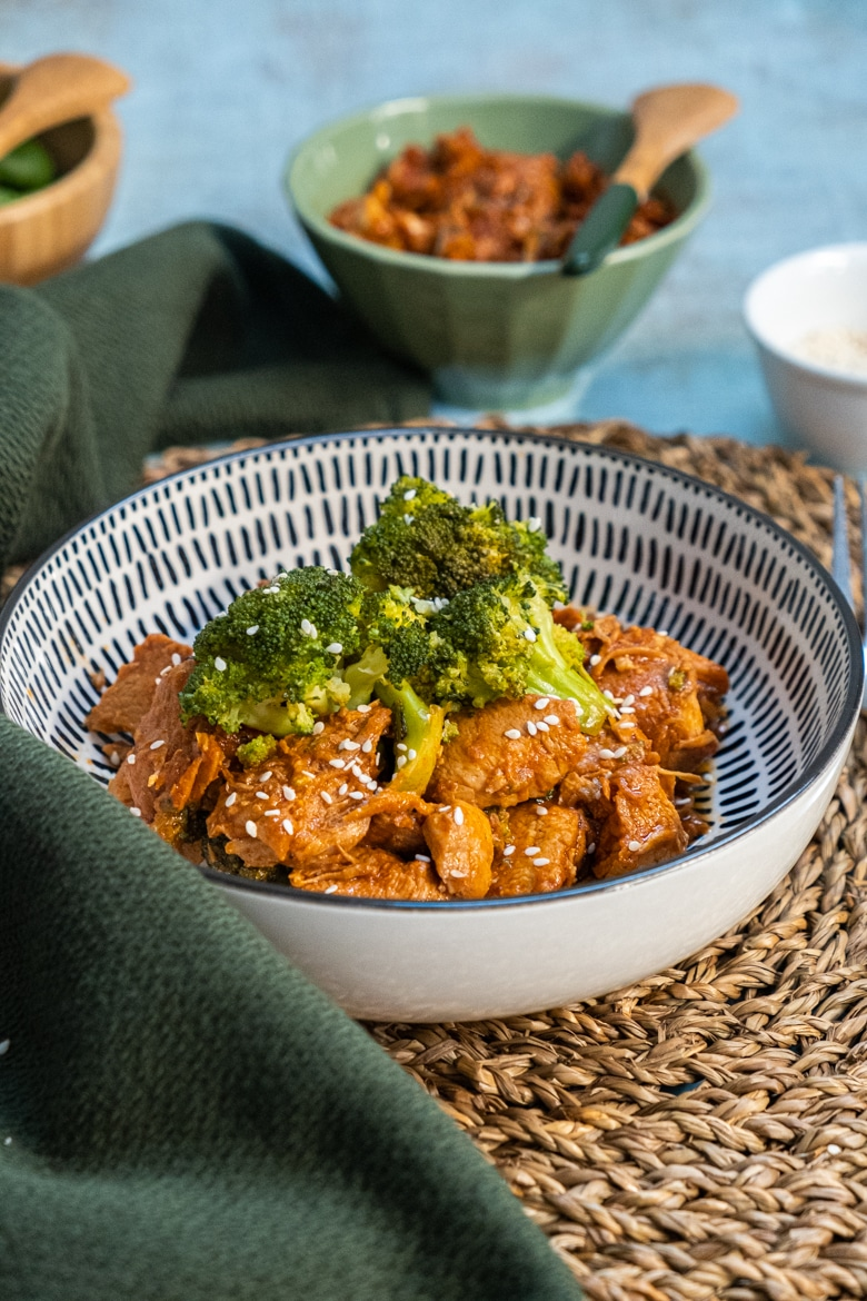 slow cooked sesame chicken